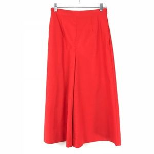 ASOS 6 Tailored Culottes Solid Red Wide Leg Pants